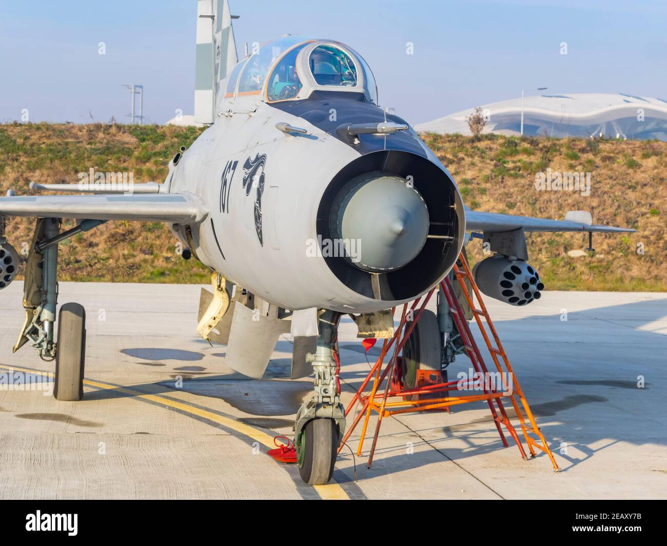 Croatian MiG21UM Stock Photo