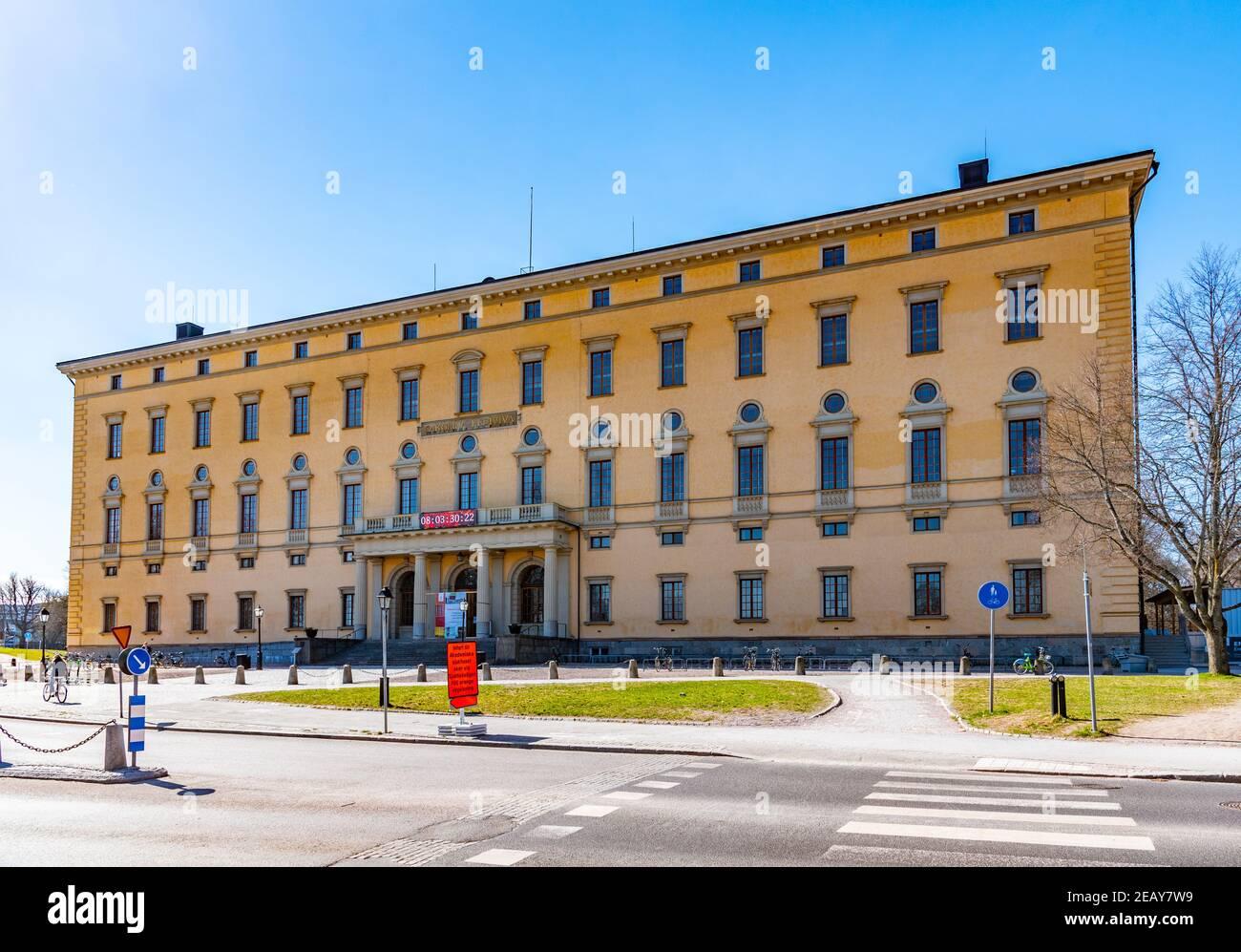UPPSALA, SWEDEN, APRIL 22, 2019: Uppsala university library in Sweden Stock Photo