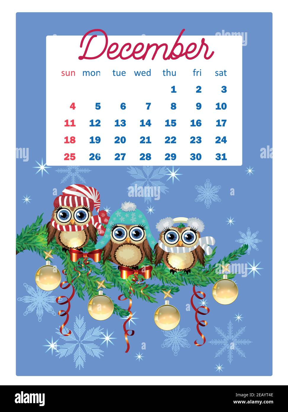Cute Calendar 2022.Calendar 2022 Cute Calendar With Funny Cartoon Owls Cute Owls And Birds For Every Month Wall Vertical Calendar For 2022 The Week Starts On Sunday Stock Vector Image Art Alamy