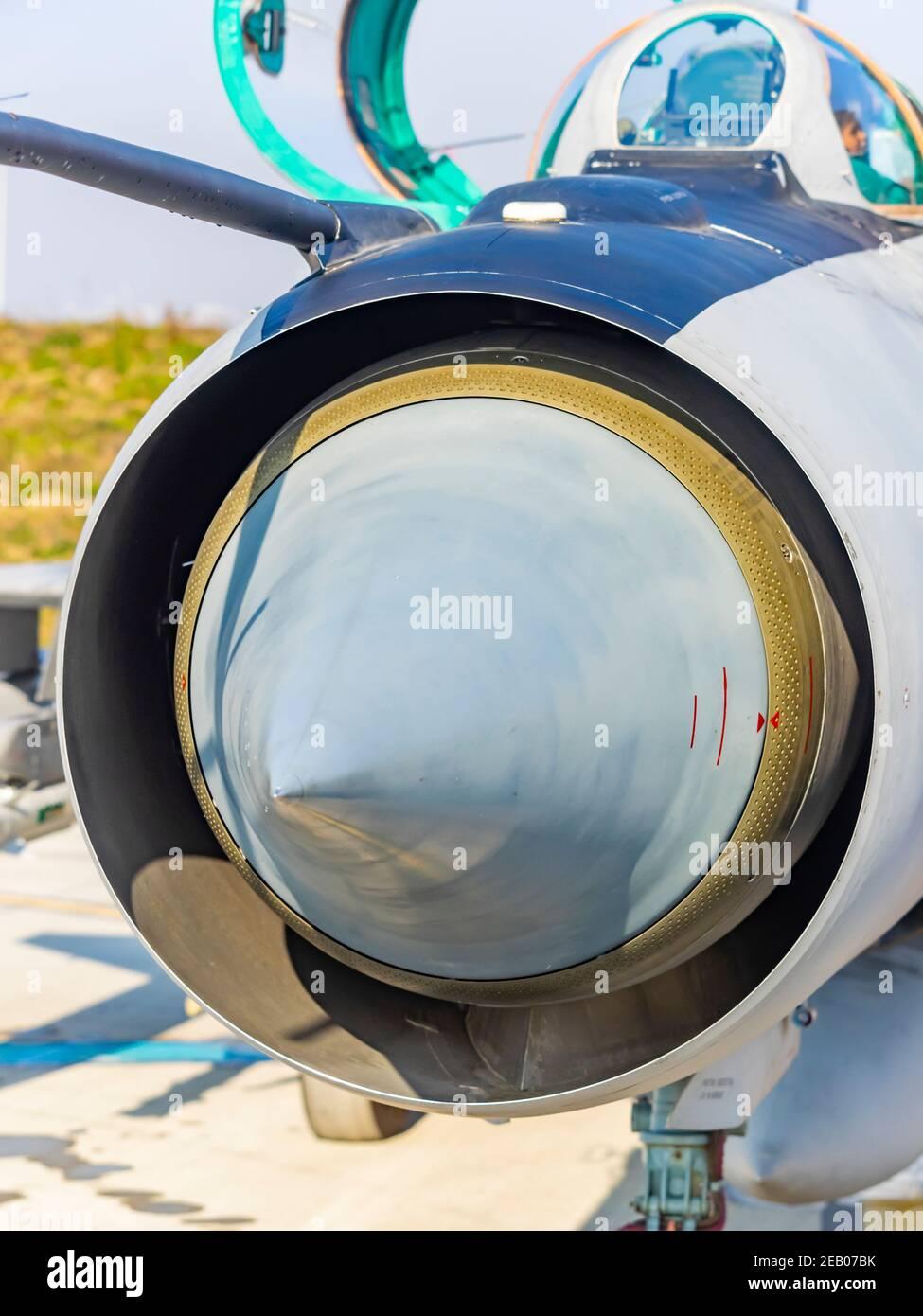 Croatian MiG21 bis D Stock Photo