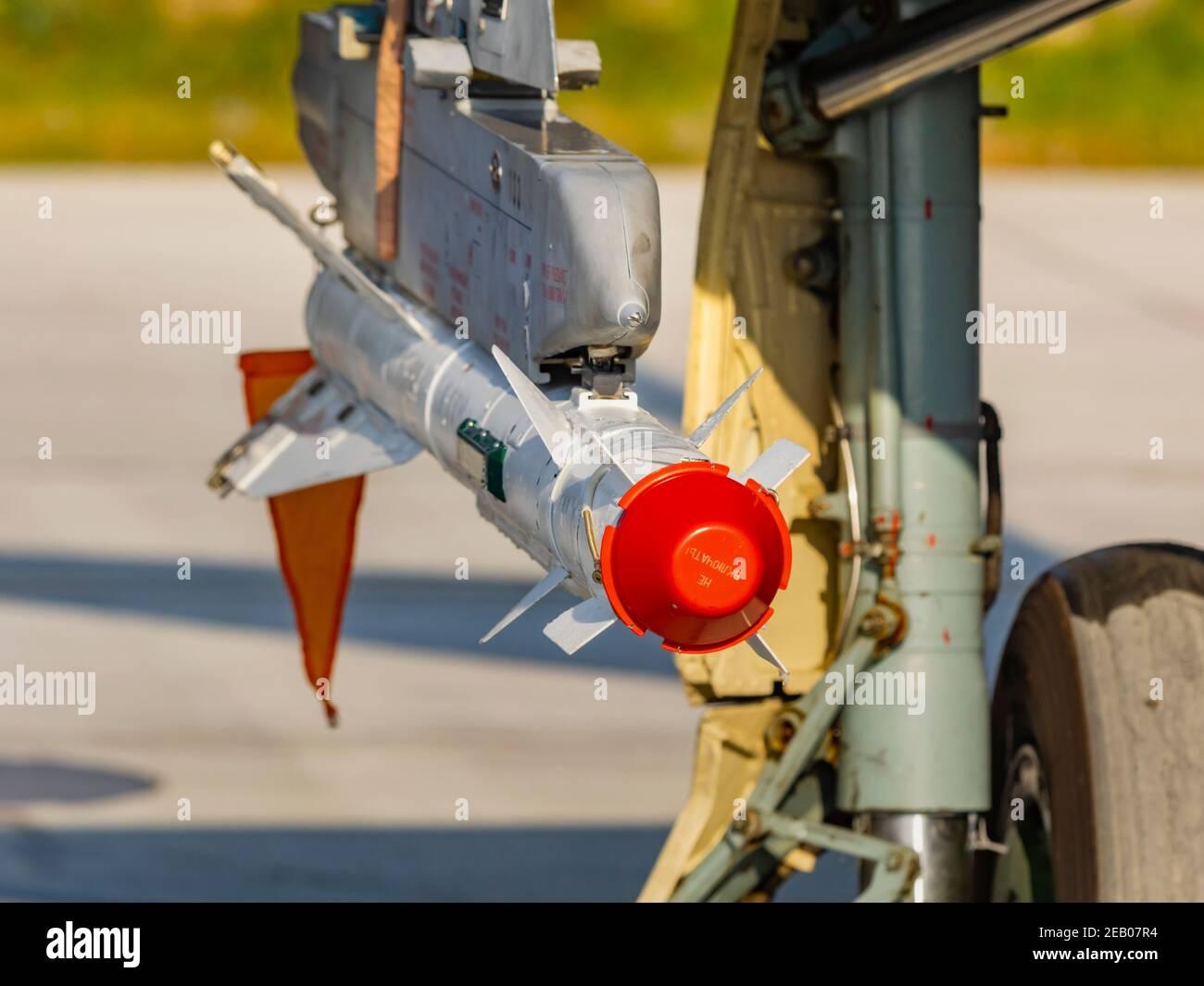 Croatian MiG21 bis D 133 Stock Photo