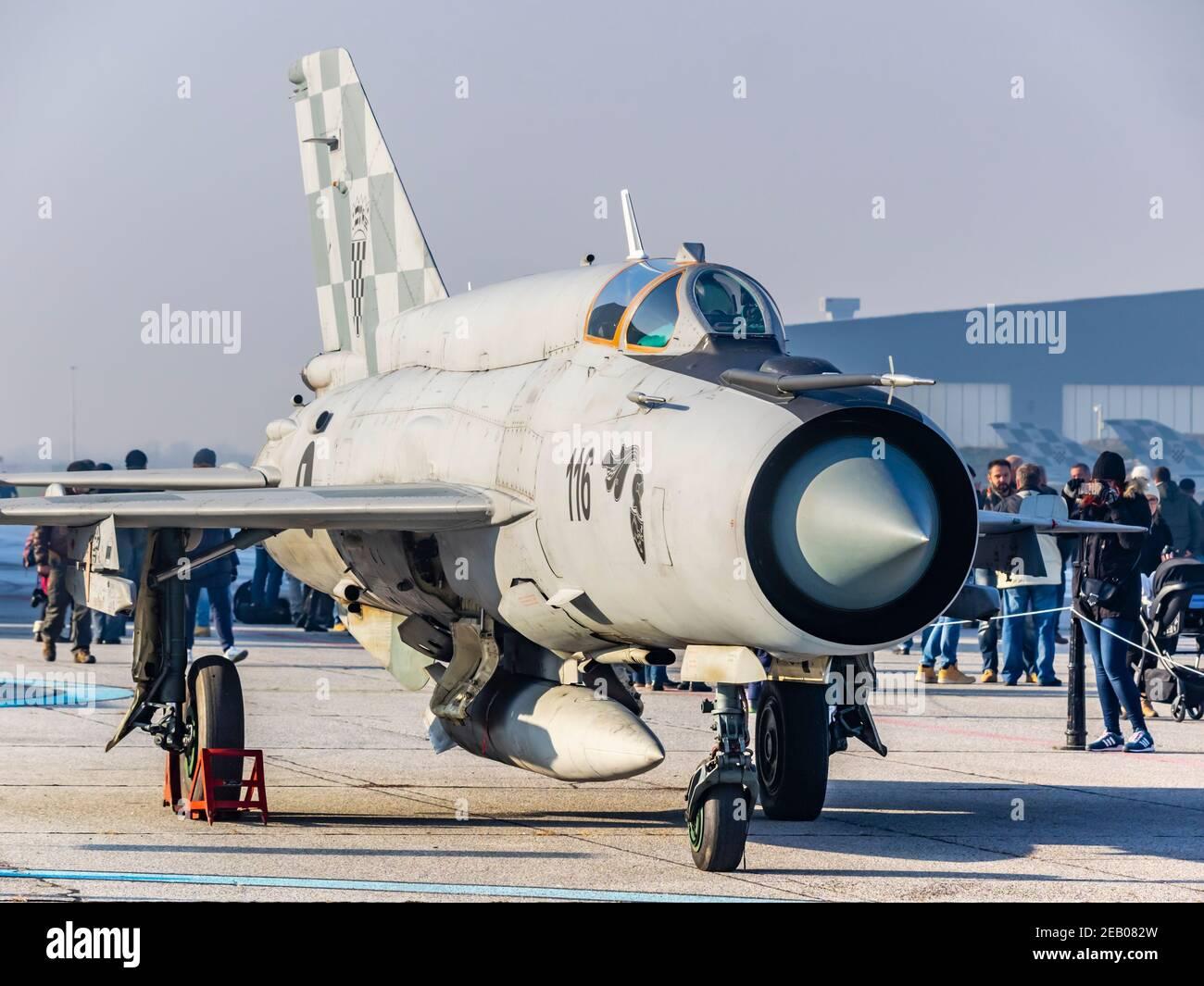 Croatian MiG21 bis D 116 Stock Photo