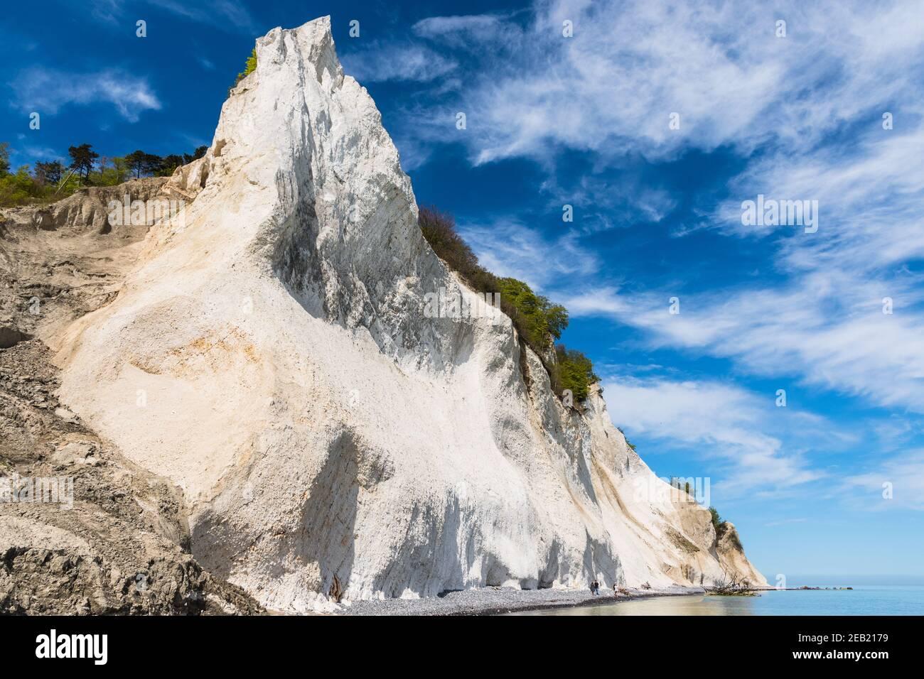 Moens klint chalk cliffs in Denmark Stock Photo
