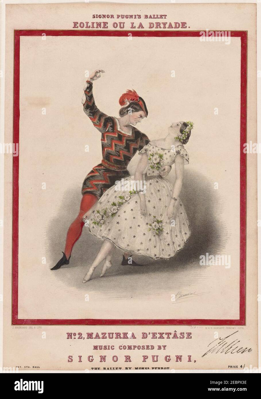 Signor Pugni's ballet Eoline ou La dryade. No. 2, Mazurka d'extâse Stock Photo