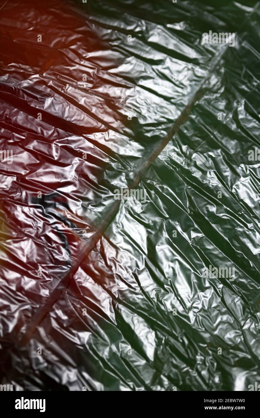 Plastic bag close up abstract background modern high quality print Stock Photo