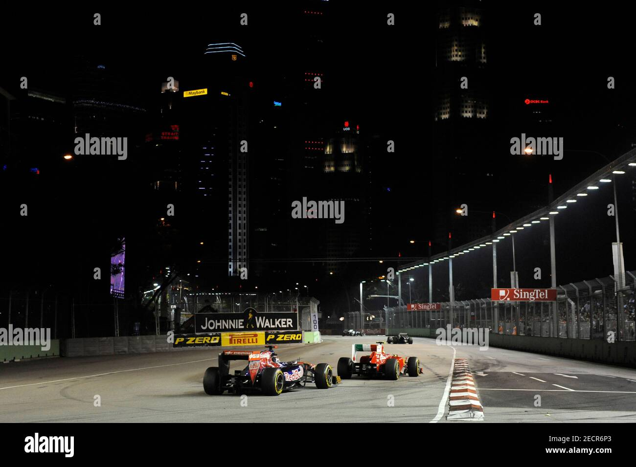 Formula One F1 Singapore Grand Prix 2011 Marina Bay Street Circuit Singapore 25 9 11 General View Of The Action During The Race Mandatory Credit Action Images Crispin Thruston Stock Photo Alamy