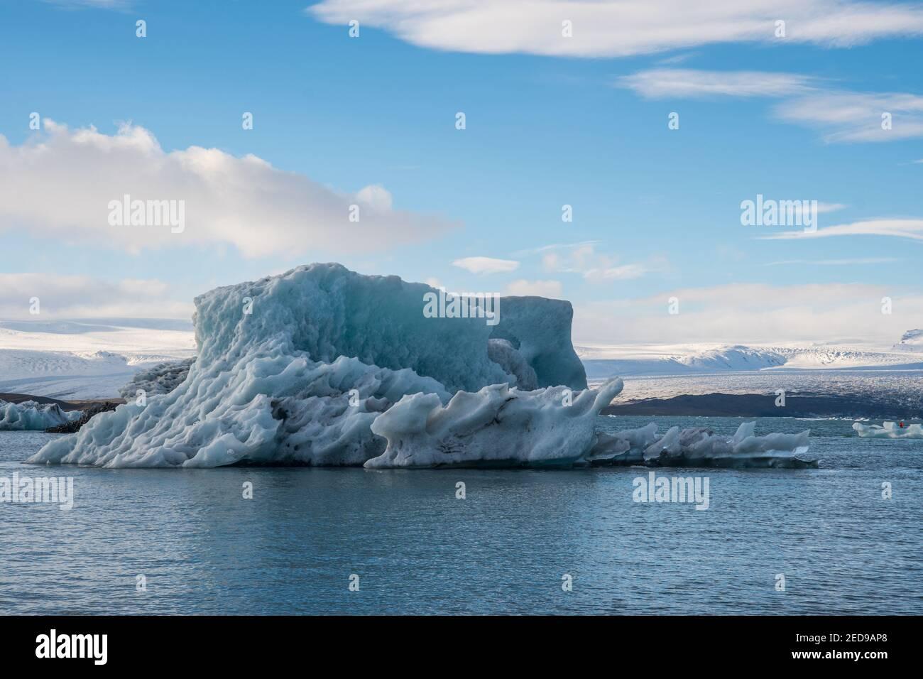 Icebergs on Jokulsarlon Glacier Lagoon in south Iceland Stock Photo