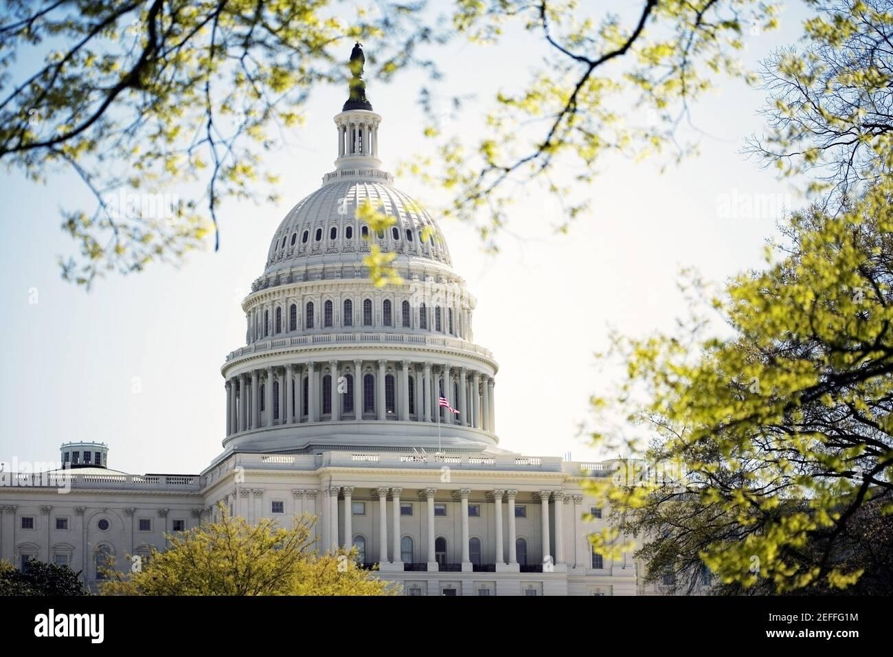Facade of the United States Capitol Building, Washington DC, USA Stock Photo