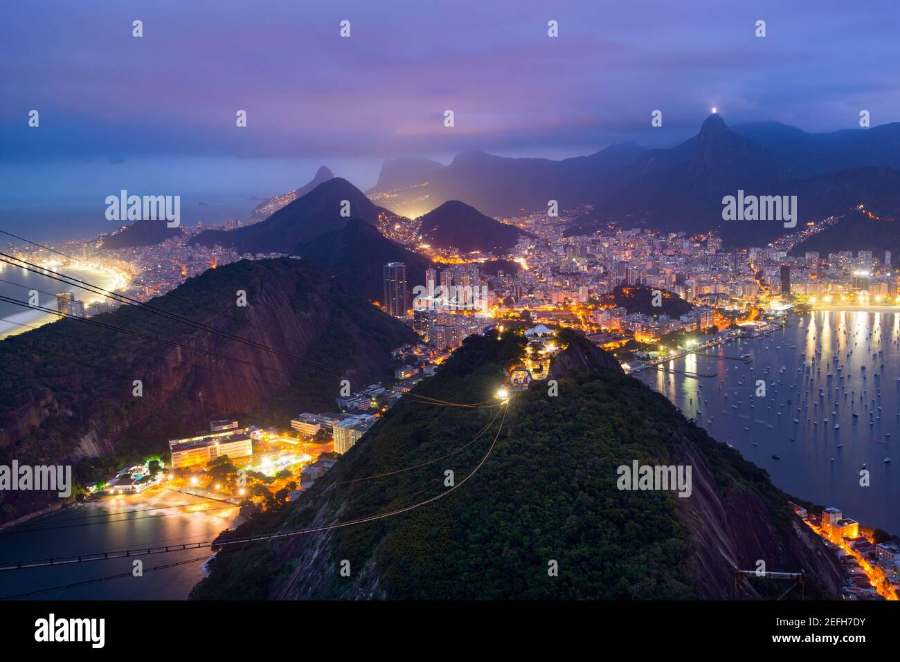 Rio de Janeiro from Sugarloaf Mountain - Brazil Stock Photo