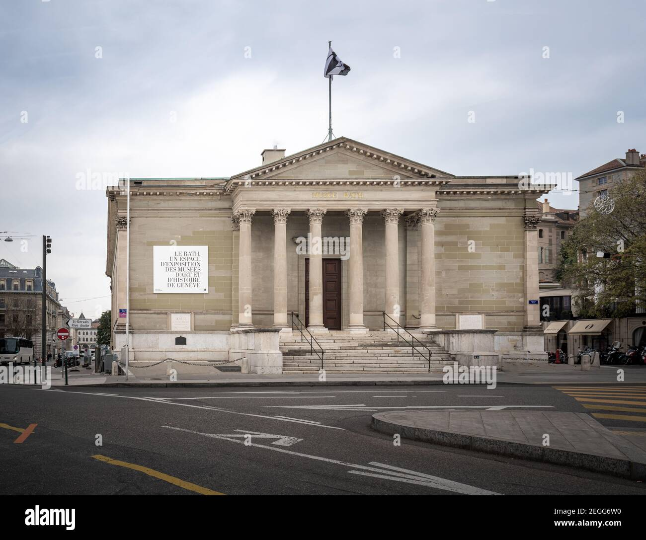 Rath Museum at Place de Neuve - Geneva, Switzerland Stock Photo