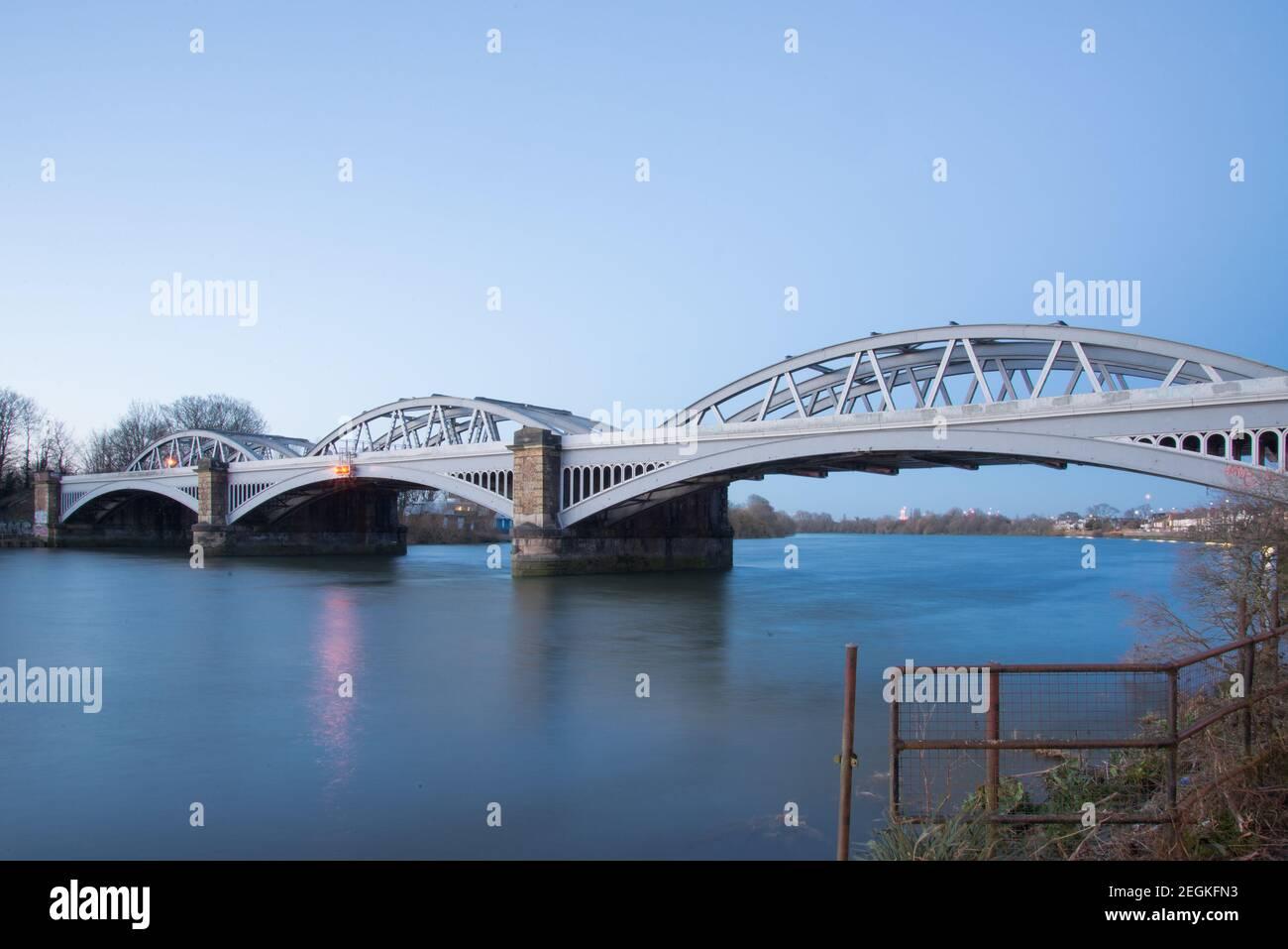 Barnes Railway Bridge Stock Photo