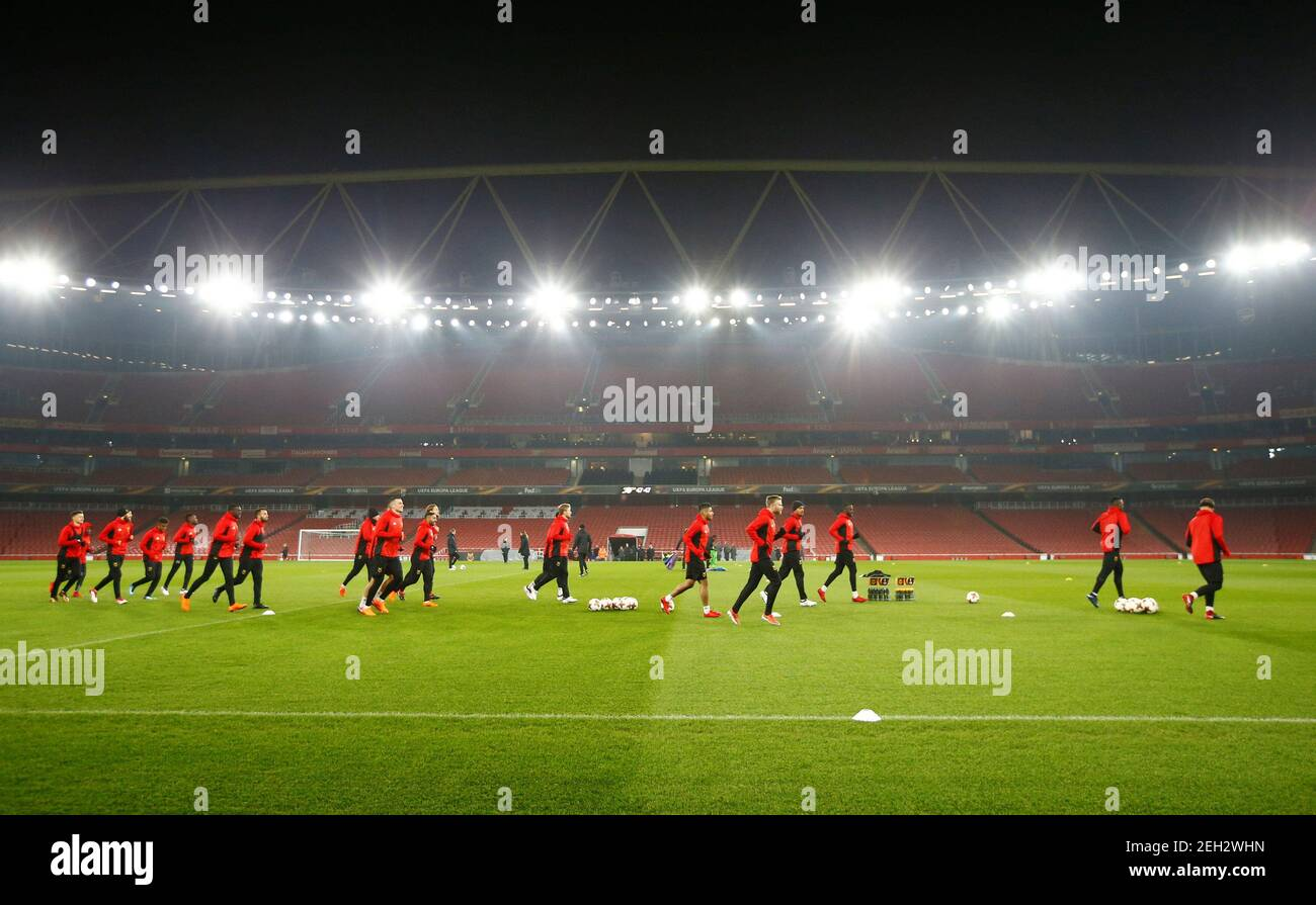 Soccer Football - Europa League - Ostersunds FK Training - Emirates Stadium, London, Britain - February 21, 2018   General view during Ostersunds training   Action Images via Reuters/Peter Cziborra Stock Photo
