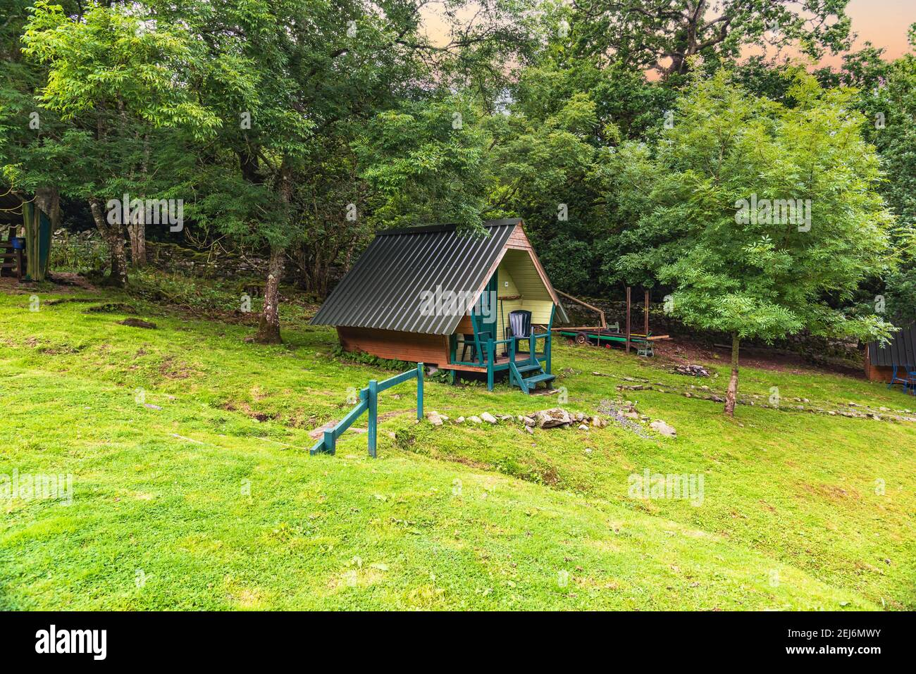 Camping Hut - colours Stock Photo