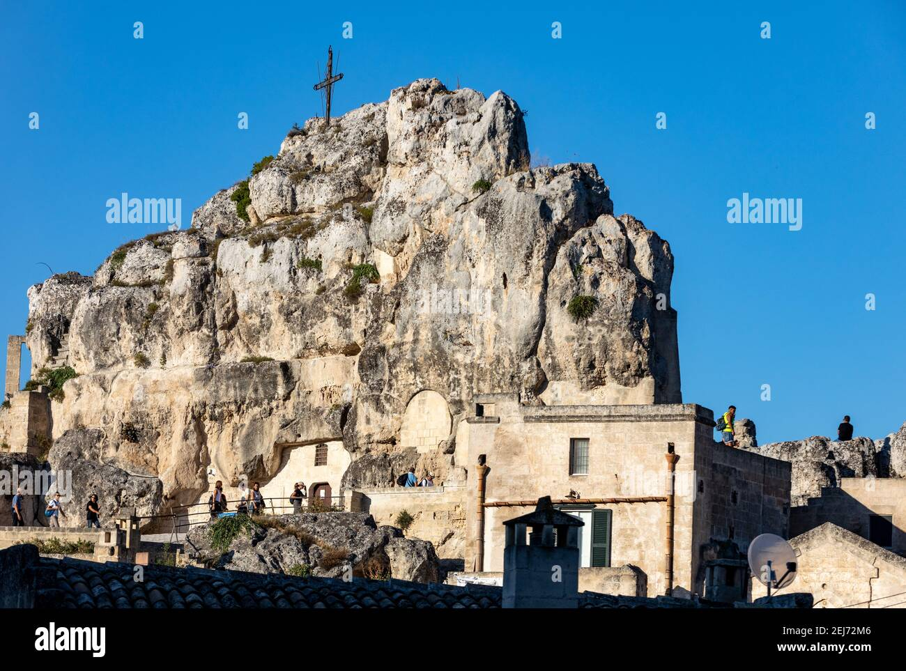 Matera, Italy - September 14, 2019: Church of Saint Mary of Idris in Sassi di Matera a historic district in the city of Matera, well-known for their a Stock Photo