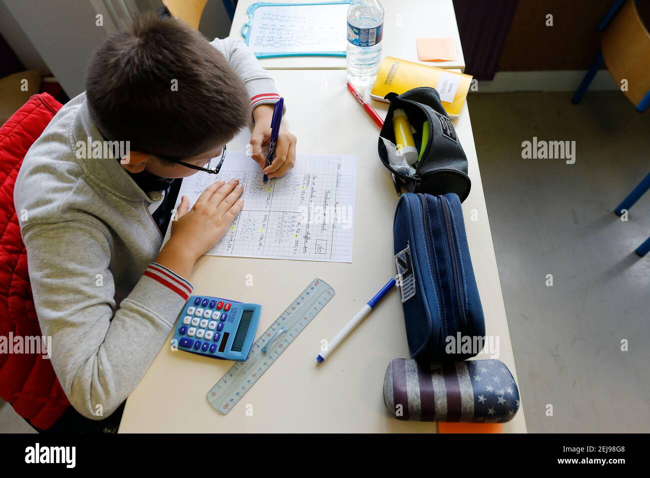 Primary school in montrouge, france Stock Photo