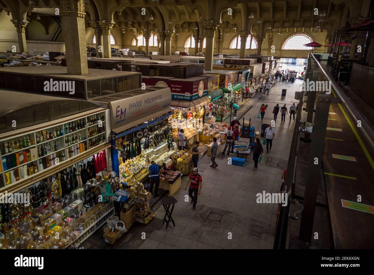 Municipal market of São Paulo - São Paulo-São Paulo-Brasil - 10-11-2020 Stock Photo
