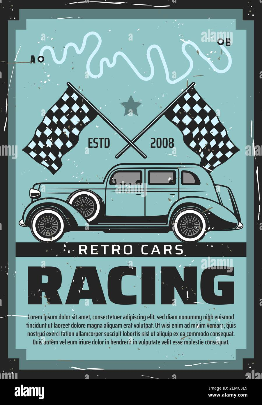 Vintage Motor Racing Poster High Resolution Stock Photography And Images Alamy