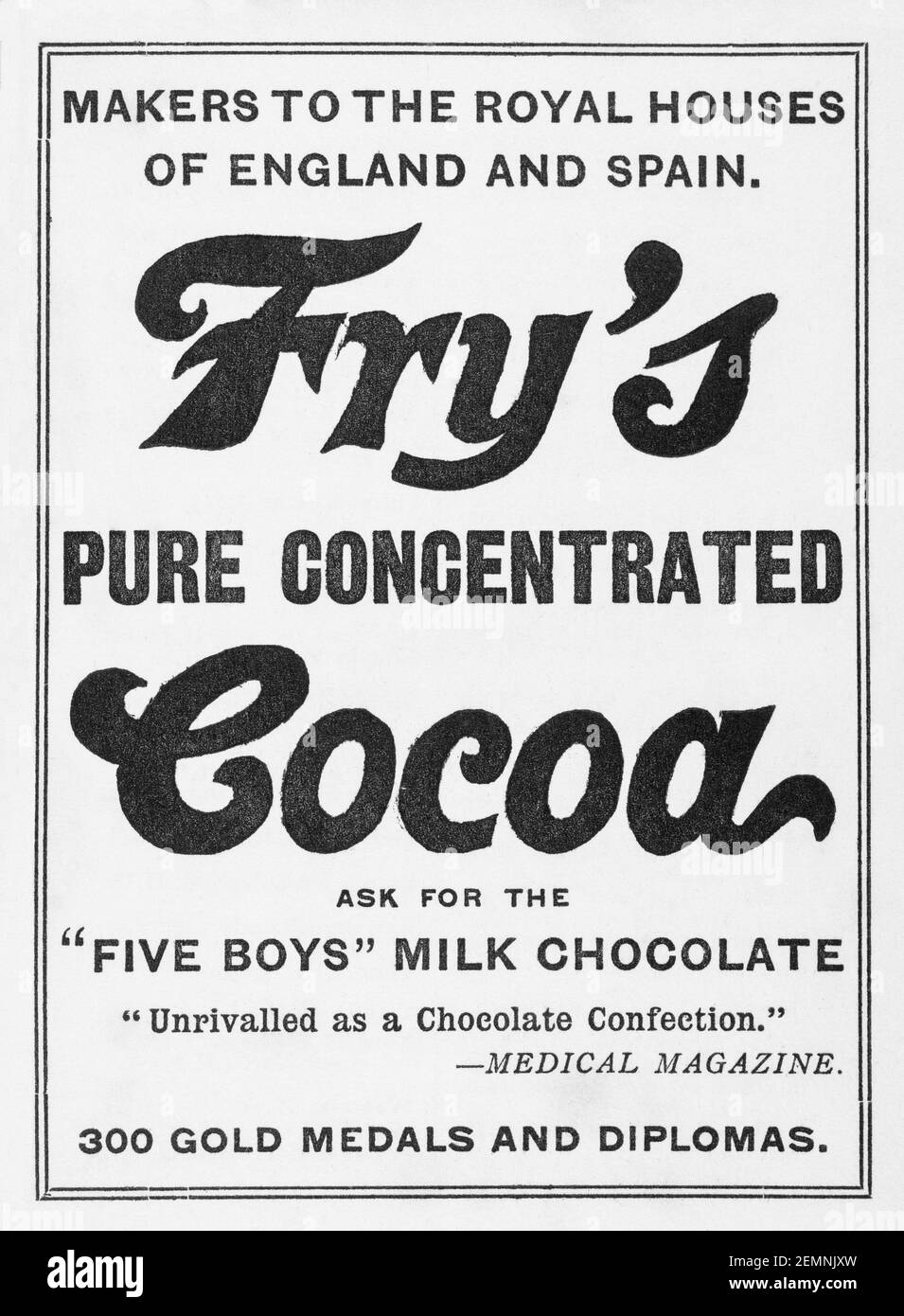 Fry's Chocolate Advert High Resolution Stock Photography and Images - Alamy