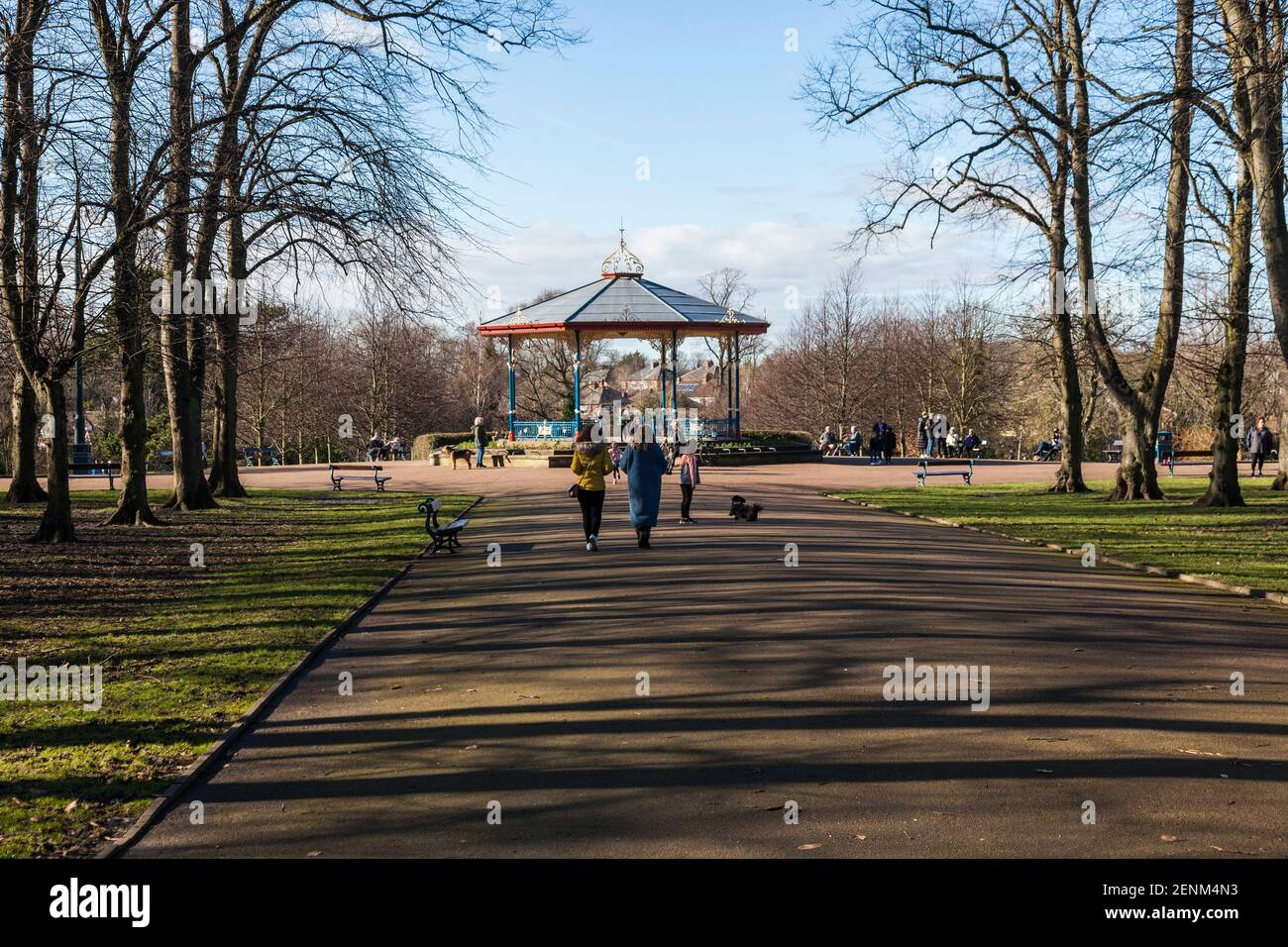 The bandstand in Ropner Park, Stockton on Tees, England, UK Stock Photo