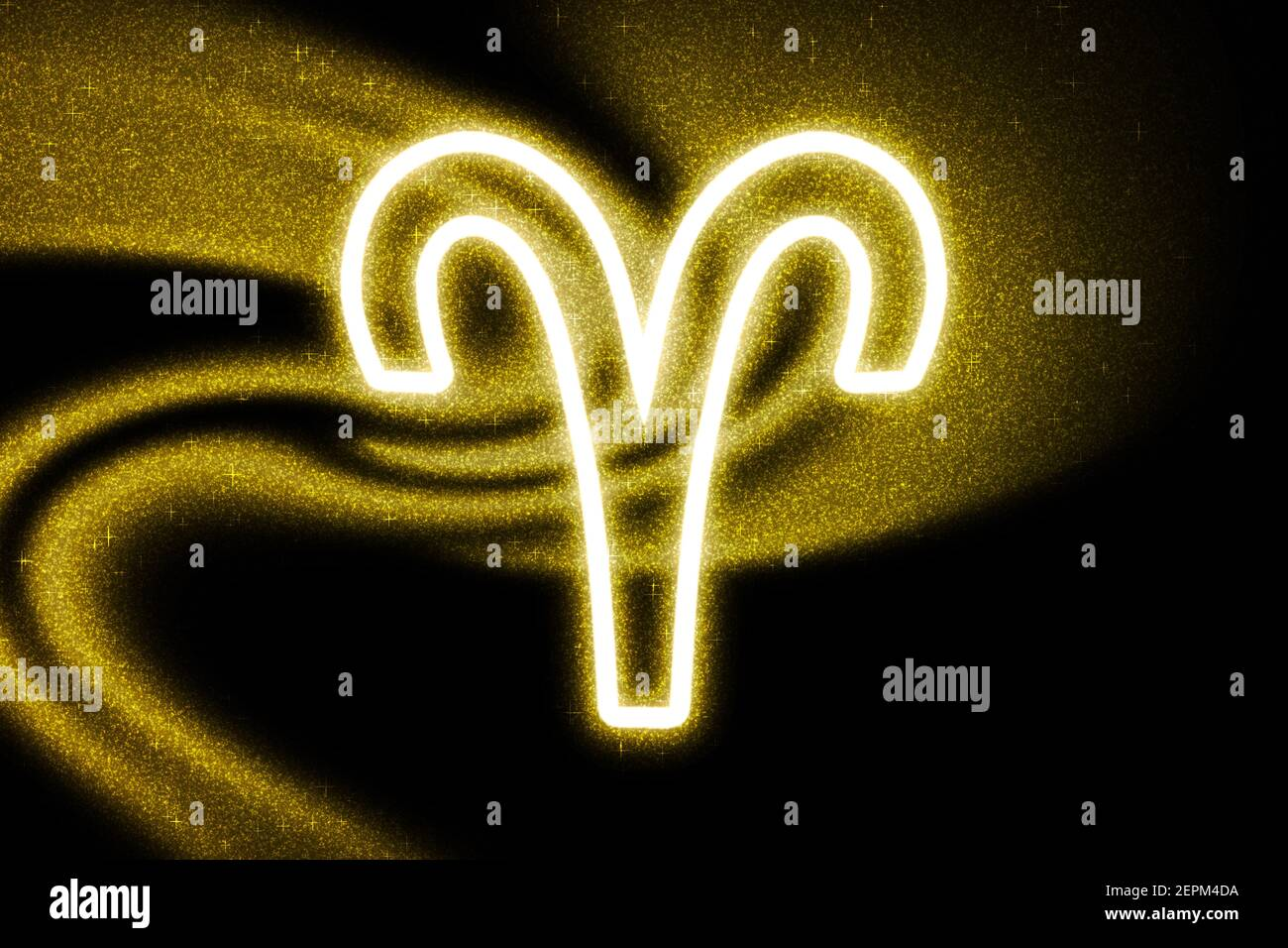 Aries Zodiac Sign Gold Glitter Horoscope Astrology Background Aries Horoscope Symbol On Dark Background Stock Photo Alamy