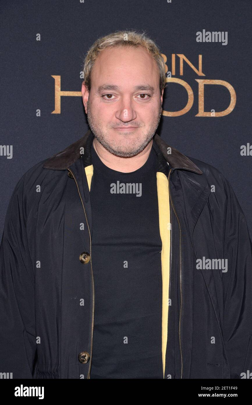 Gregg Bello attends the 'Robin Hood' New York screening at AMC Lincoln Square Theater in New York, NY, November 11, 2018. (Photo by Anthony Behar/Sipa USA) Stock Photo