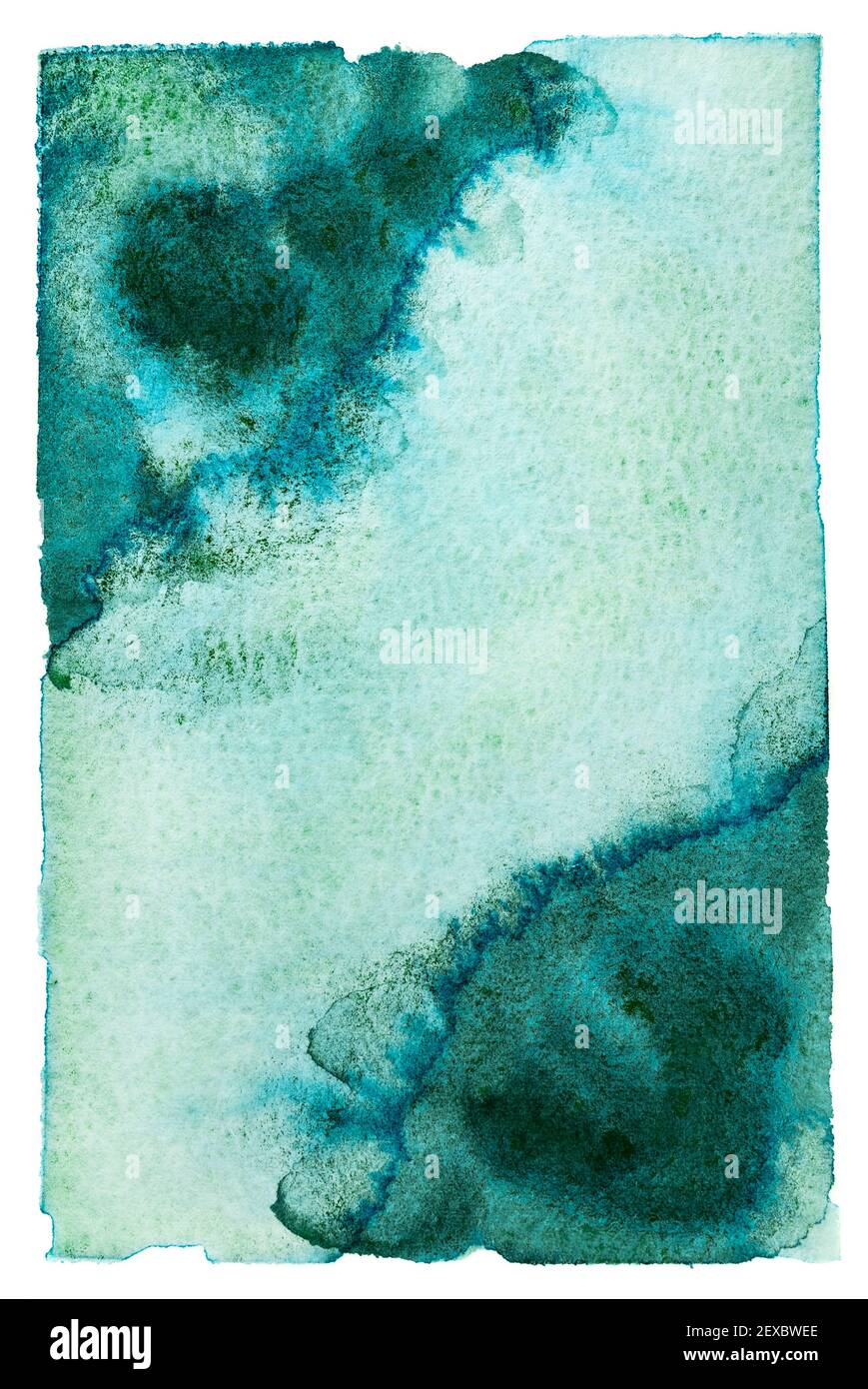 Coral Waves Set of 4 abstract watercolor paintings