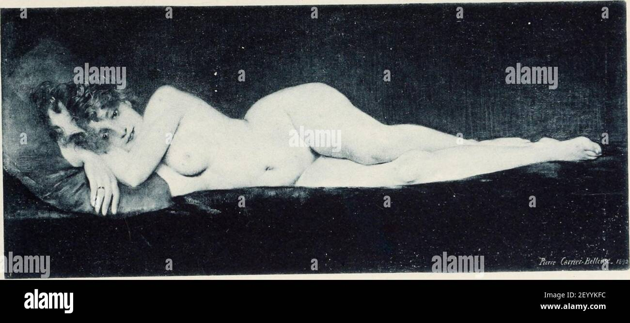 Pierre Carrier-Belleuse Sarah. Stock Photo