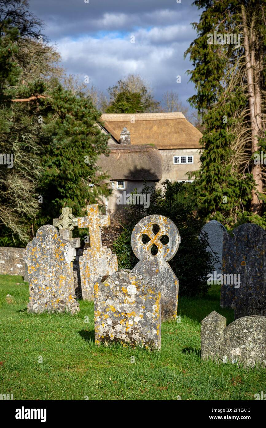Dartmoor graveyard,Dunsford,Cemetery,Community, History, Ancient, Backgrounds, Celtic Cross, Celtic Style, Christianity, Church,  Dead, Death, Europe, Stock Photo