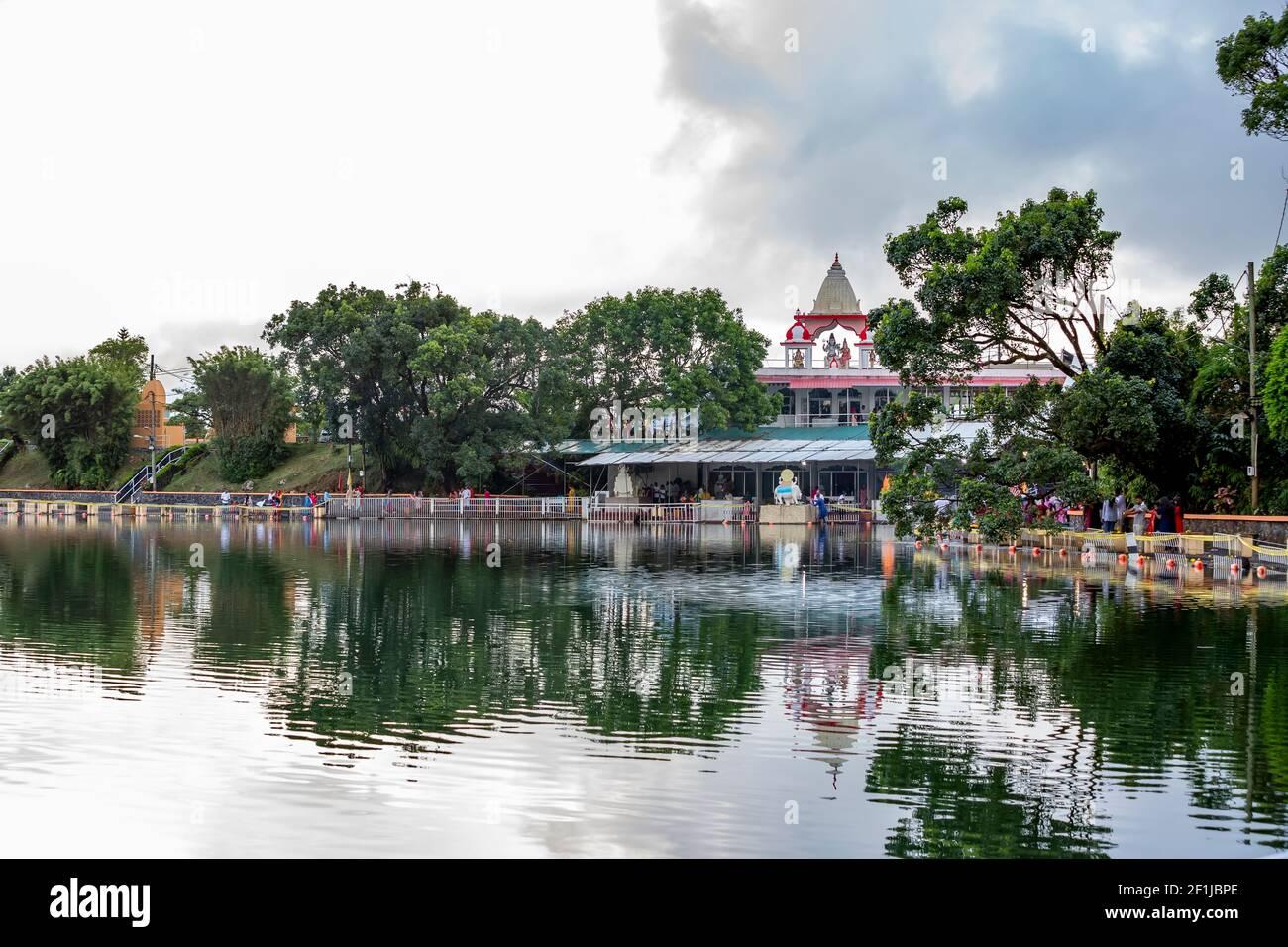 Ganga Talao the sacred lake of Grand Bassin, Mauritius Stock Photo