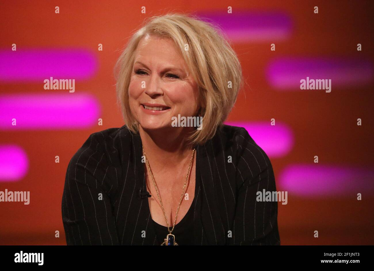 """File photo dated 16/1/20200 of Jennifer Saunders who says she felt out of her comfort zone singing opera for Comic Relief because her hearing is """"gradually failing"""". The comedy star, 62, is singing opera live on this year's telethon, with the help of Charlotte Church and the English National Opera (ENO). Issue date: Tuesday March 9, 2021. Stock Photo"""