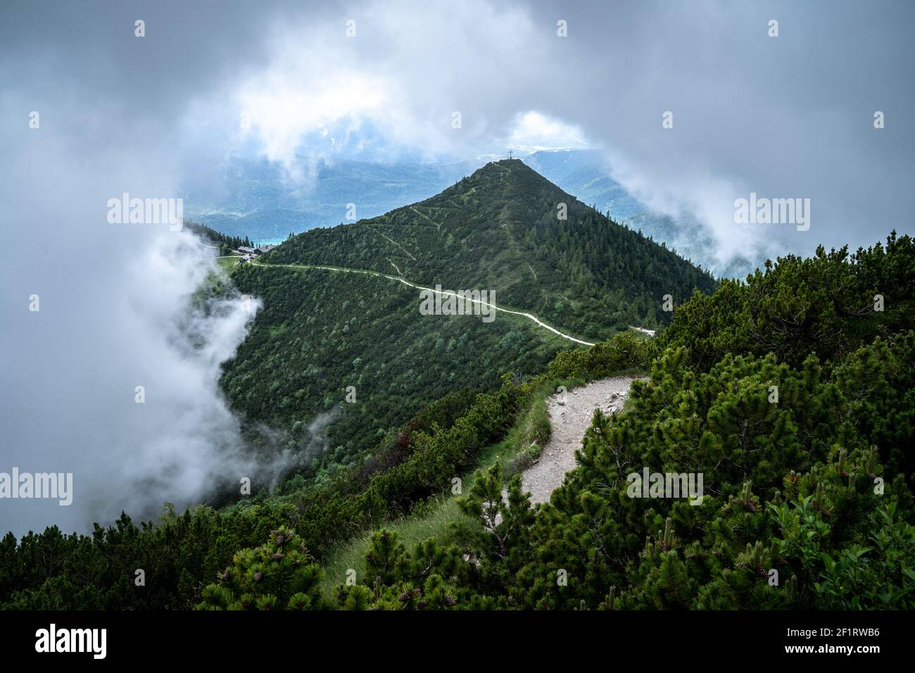 view at the herzogstand mountain in bavaria Stock Photo
