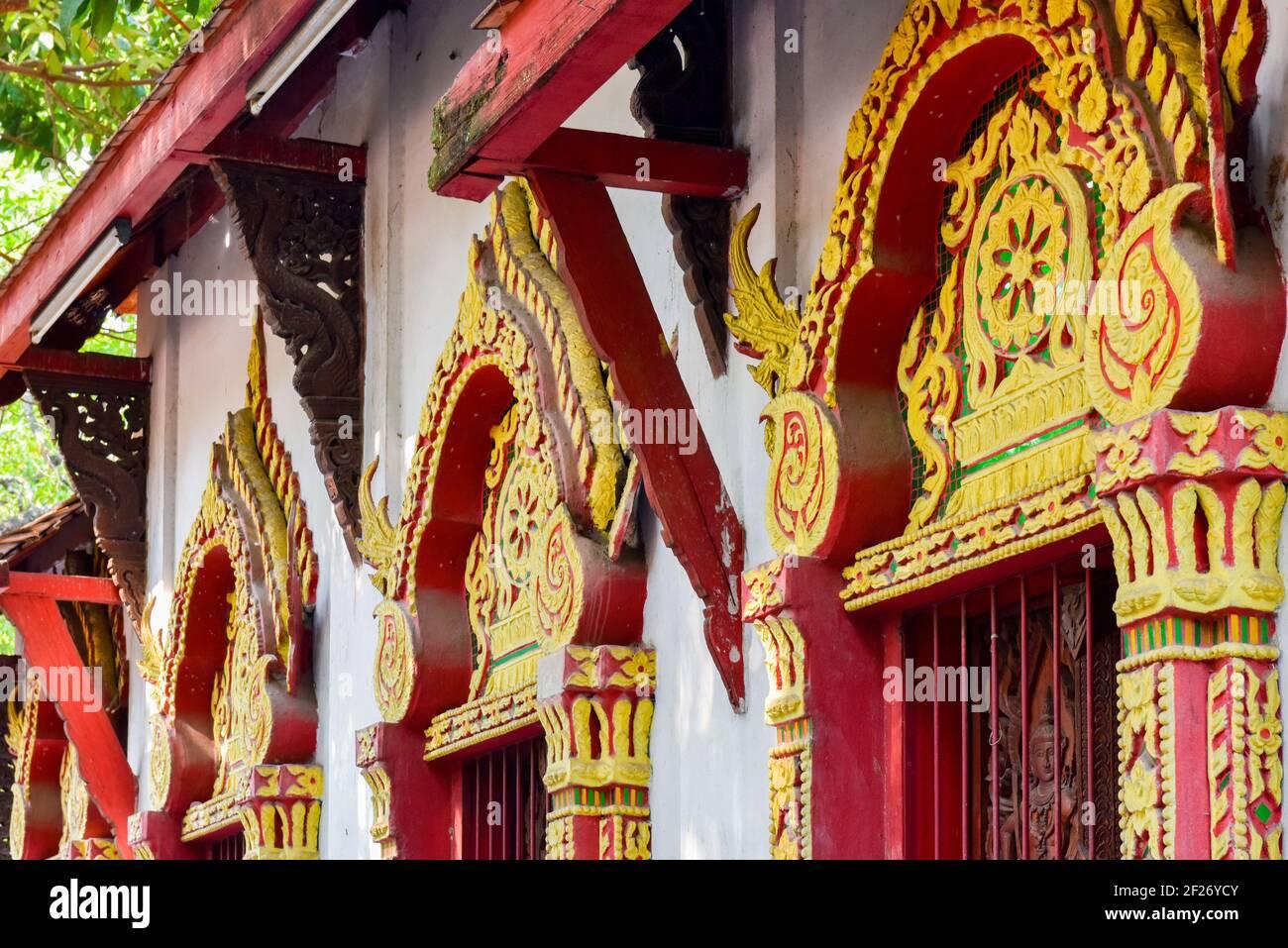 Wat Phra Singh Temple, Chiang Mai, Thailand Stock Photo