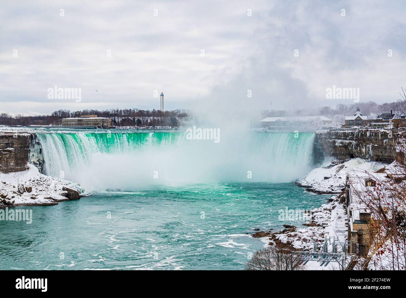 Niagara Falls Ontario Canada in winter Stock Photo