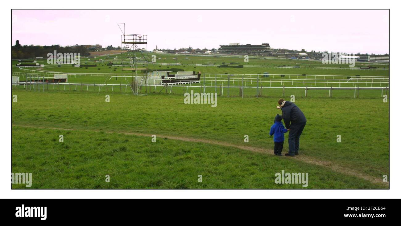 To go with story by Mathew Beard comparing last yrs cancelled Cheltenham Gold cup Festival to this yr..... pic David Sandison 6/3/2002 Stock Photo