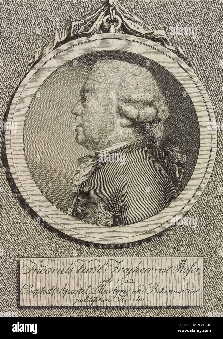 Friedrich Karl Freyherr von Moser, geb. 1723. Stock Photo