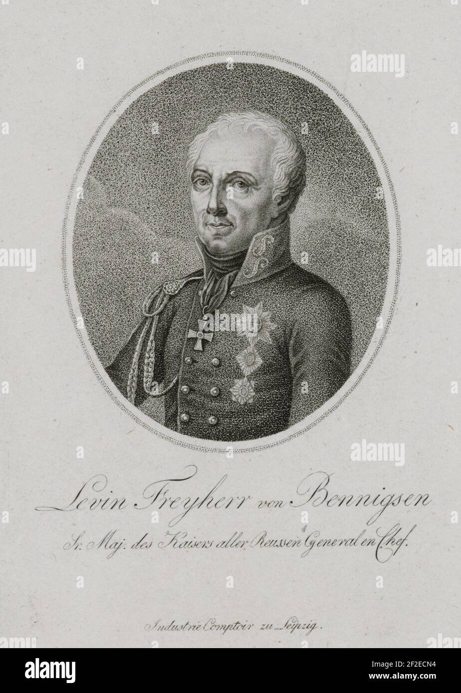 Levin Freyherr von Bennigsen Sr. Maj. des Kaisers aller Reussen General en Chef (1813). Stock Photo