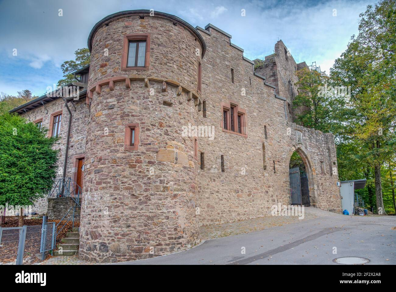 Hohenbaden Castle at Baden Baden, Germany Stock Photo