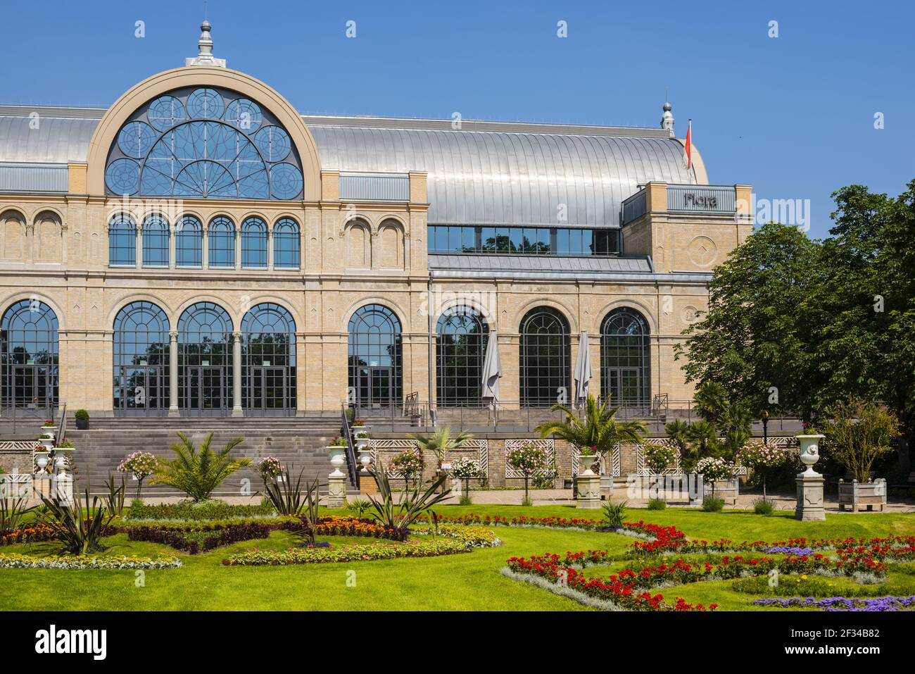 geography / travel, Germany, North Rhine-Westphalia, botanical garden, festival hall of the flora, Cologne, Freedom-Of-Panorama Stock Photo