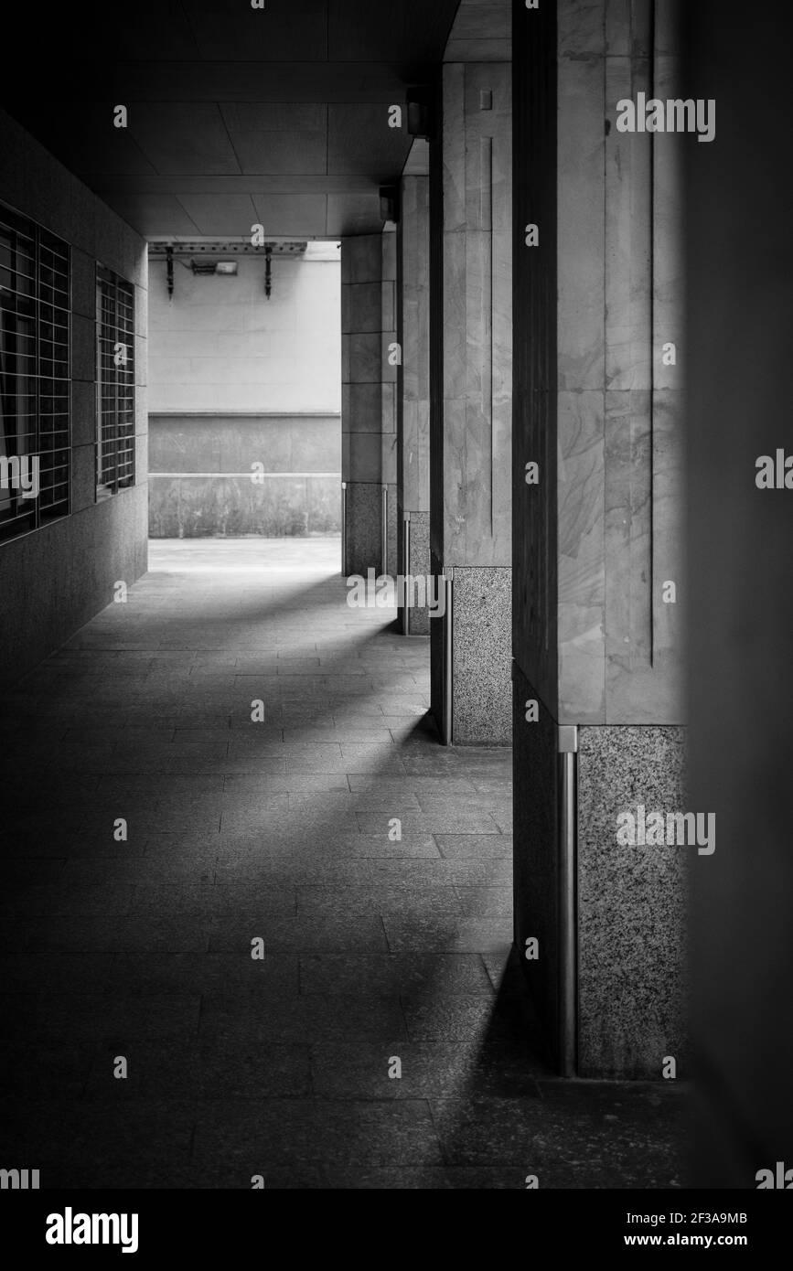 Dark passageway Stock Photo