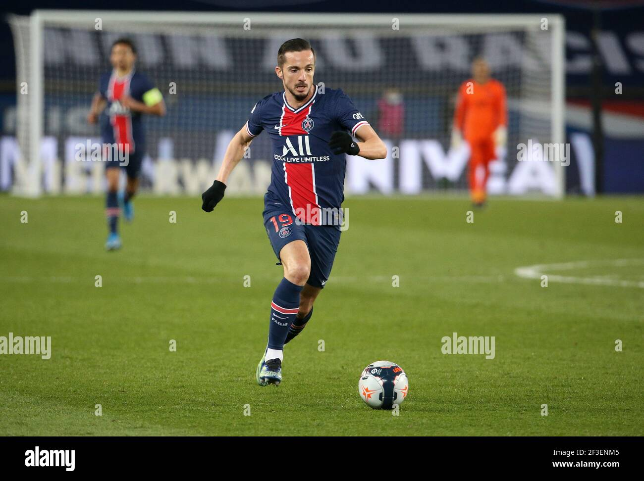 Pablo Sarabia of PSG during the French championship Ligue 1 football match  between Paris Saint-Germain and FC Nantes on March 14, 2021 at Parc des  Princes stadium in Paris, France - Photo
