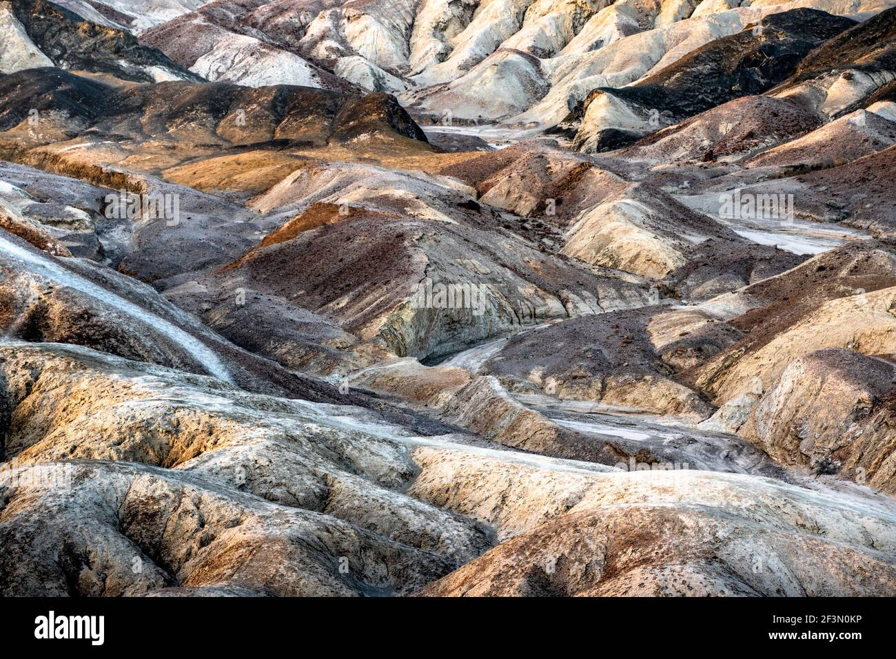 Beautiful colorful Death Valley National Park landscape travel image with mountains Stock Photo