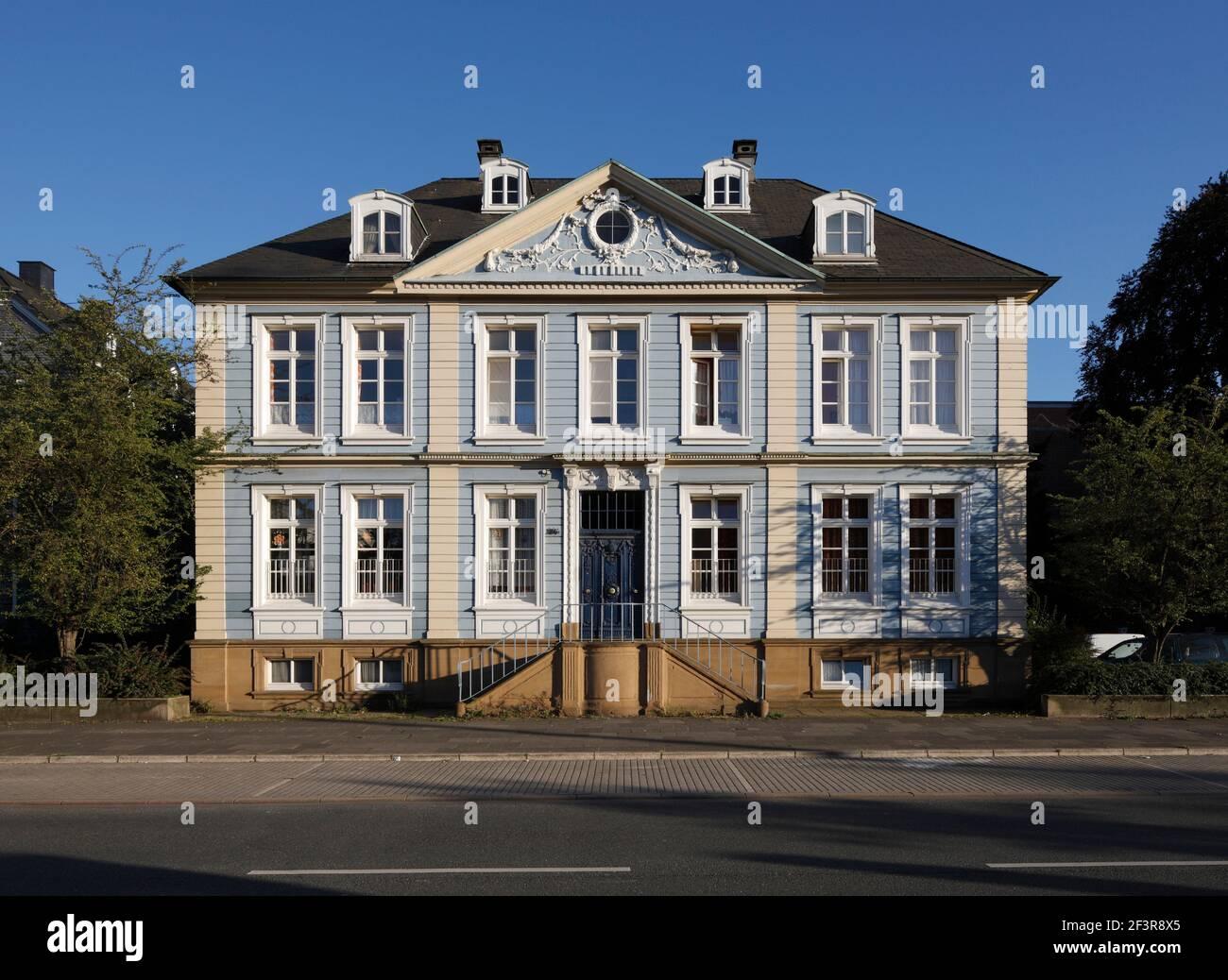 Villa neben dem Museum f¸r Fr¸hindustrialisierung und Engels-Haus, Wuppertal Barmen,  Historisches Zentrum Stock Photo
