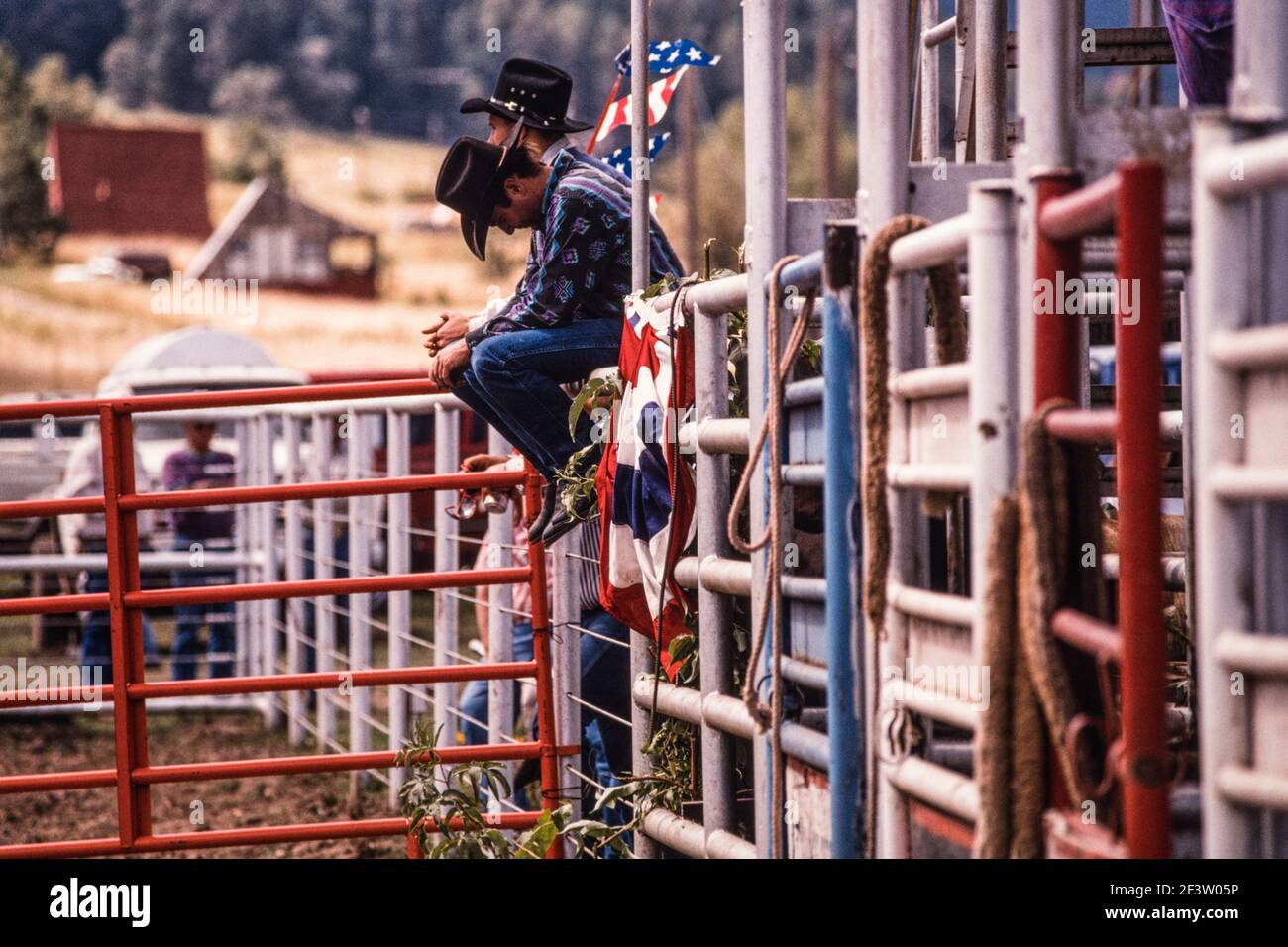 Cowboys On Fence High Resolution Stock Photography And Images Alamy