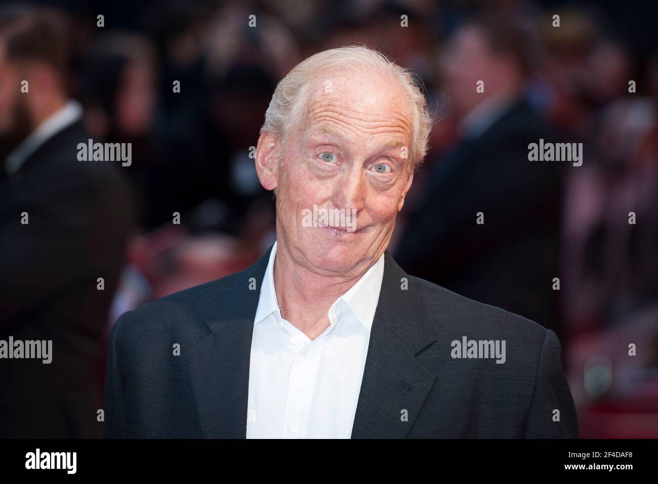 Charles Dance arrives at the Dracula Untold premiere at the Odeon, Leicester Square - London Stock Photo