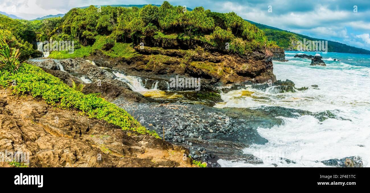 The Pools of Oheo Gulch, Kipahulu District, Haleakala National Park, Maui, Hawaii, USA Stock Photo