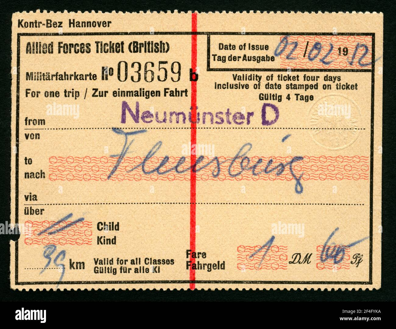 Schleswig holstein ticket