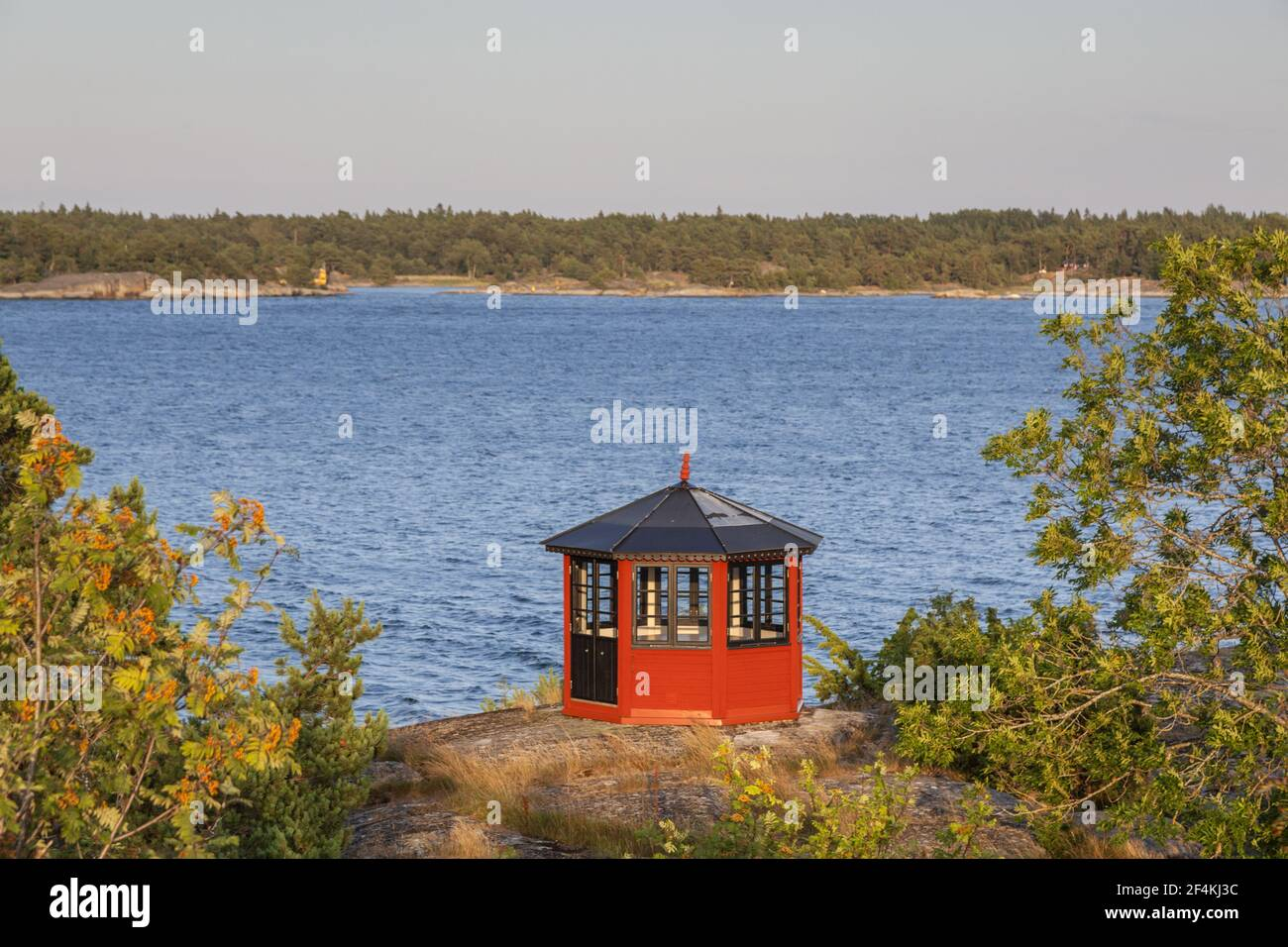 geography / travel, Sweden, Stockholm laen, Stockholm skårgården, pavilion in mount on isle Moeja, in , Additional-Rights-Clearance-Info-Not-Available Stock Photo