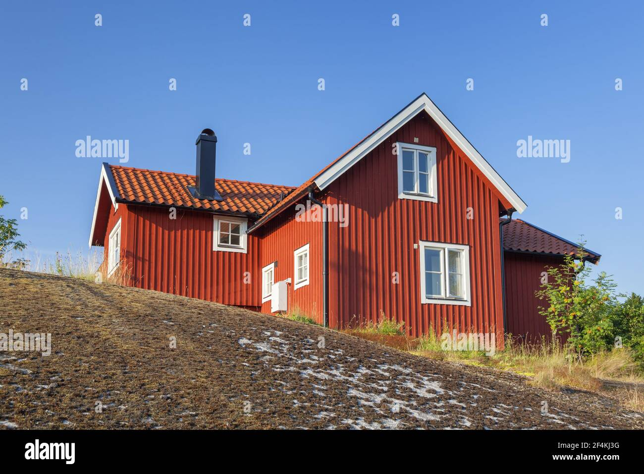 geography / travel, Sweden, Stockholm laen, Stockholm skårgården, house in mount on isle Moeja in the , Additional-Rights-Clearance-Info-Not-Available Stock Photo