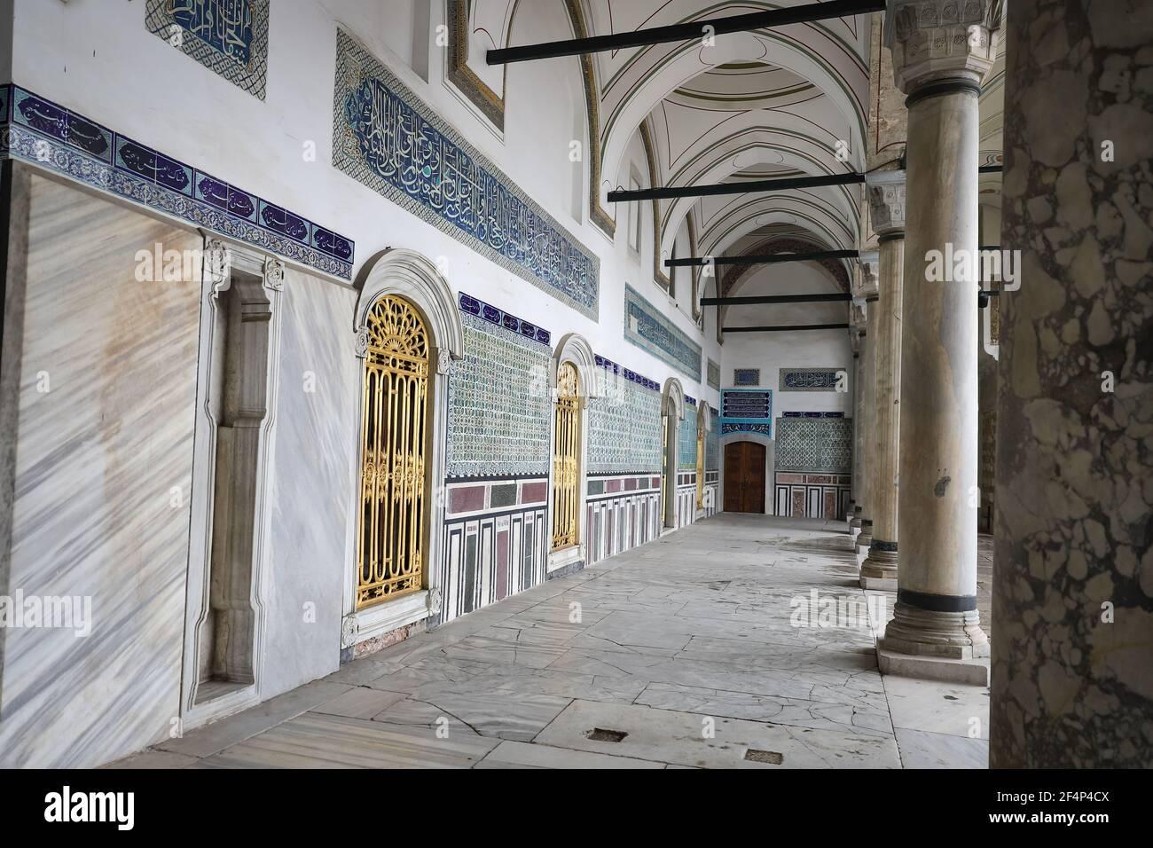 Building in Topkapi Palace, Istanbul City, Turkey Stock Photo