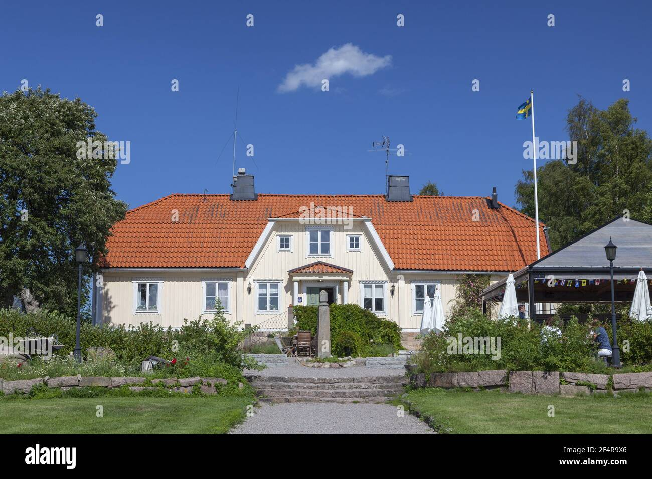 geography / travel, Sweden, Stockholm laen, Stockholm skaergård, former estate now Lidoe Krog on the i, Additional-Rights-Clearance-Info-Not-Available Stock Photo